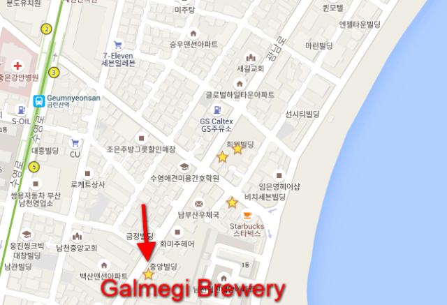 Galmegi BRewery map