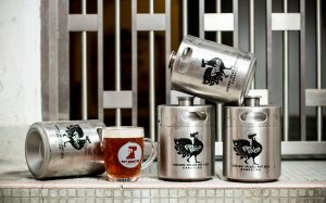 Fat Rooster Brewing Co - Kegs with logos