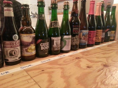 Some of the bottles served at Pong Dang. Not an exhaustive list!