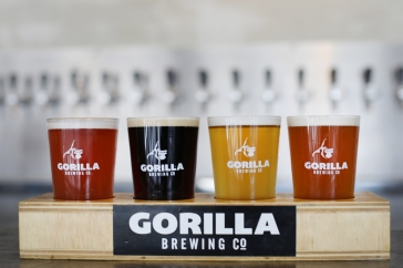 A sampler of some of Gorilla Brewing's beers PHOTO COURTESY ANDY GREEN